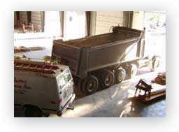 Bodart Electric 20,000 lb., 26,000 lb, 33,000 and 73,000 lb. dump trucks